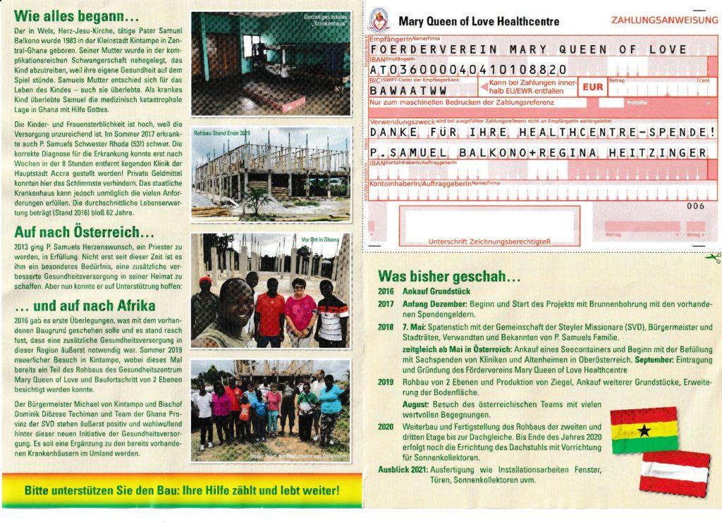 Projekt Mary Queen of Love in Ghana
